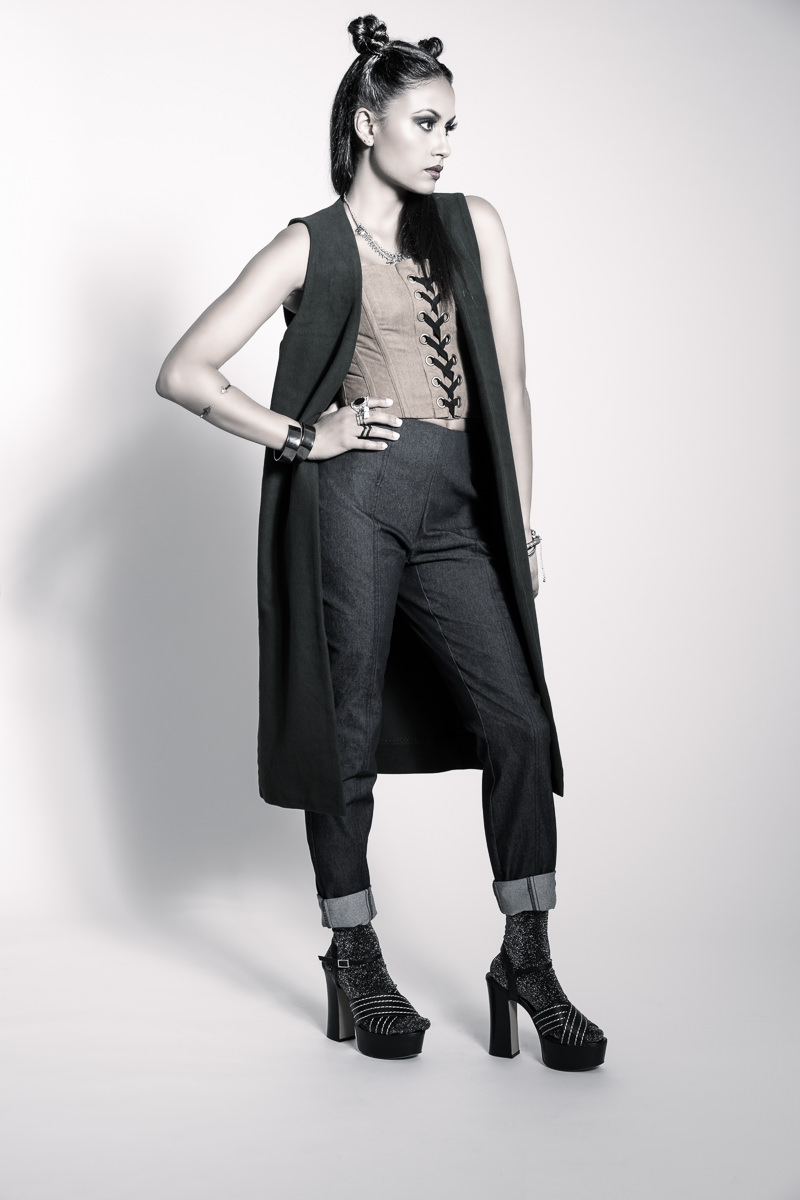 corset- Bardot Pants- Cue Vest- Morning Mist Socks- Topshop Shoes- Tony Bianco Accessories- Stylist's own