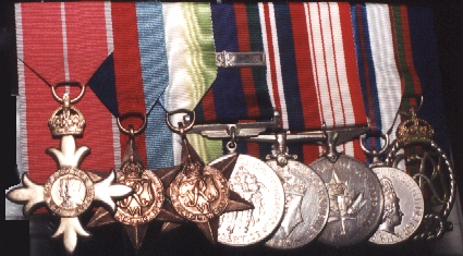 Capt(N) Jackson's medals displayed at the Military Museums, Calgary