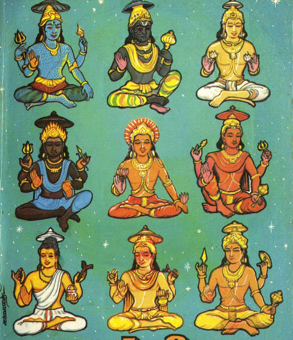 Navagrahas, the Nine Planetary gods in Hinduism