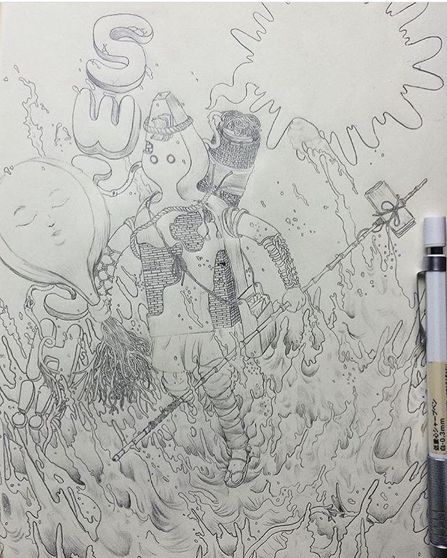 🌊SWISH🌊 ✨D R A W I N G J O U R N A L 004  Page 002✨ ____________________________________________________✍ Drawn in @Muji_Global Mechanical Pencil  #🌊 #Swish #Art #Muji