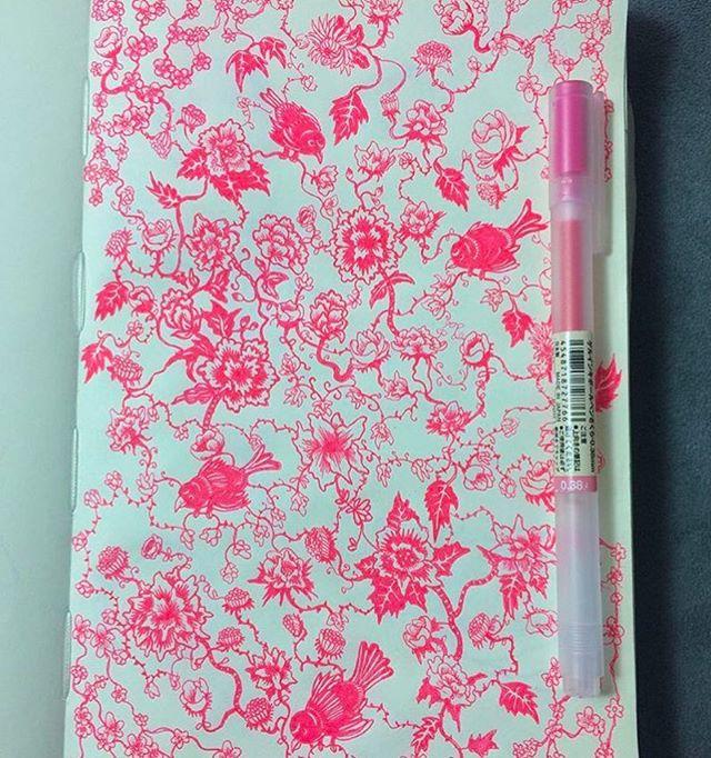 ✨🌙⭐️ Floral Doodle⭐️🌙✨ 🌸🌸 P R O C E S S  J O U R N A L  024 🌸🌸 ___________________________________________________✍️️ Drawn with my Pink @MujiUSA Gel Pen. ___________________________________________________✍️️ #Flowers #Muji #Art #🌸