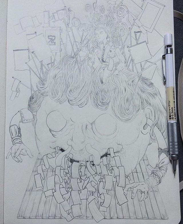 ✨ Pencil 👉 Photoshop ✨ ____________________________________________________✍️ Drawn in @MujiUSA Mechanical Pencil ✏️ ✨ ____________________________________________________✍️ #Drawing