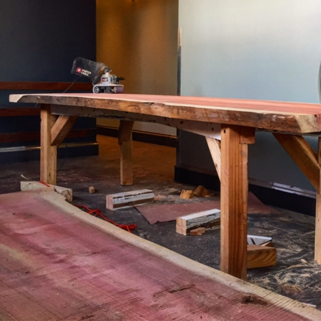 10' Redwood tables