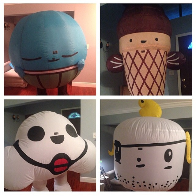 Our inflatables always show up and have a good time at any of the TeslaCake events. Be sure to take a picture with one and tag us! #teslacake #tesla #cake #inflatables #adventures #friends #kawaii #cute