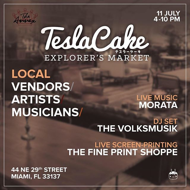 Join us on our first ever Explorer's Market and support local vendors, artists and musicians. Hosted by us, @TeslaCake.