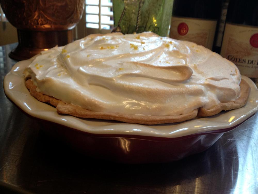 "Just watched the movie ""TOAST""...a Lemon Meringue Pie sounded good"