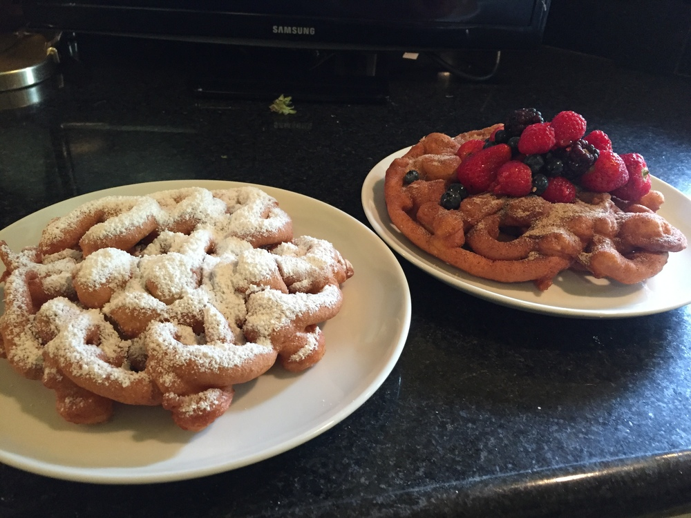 classic powdered sugar or cinnamon sugar with berries