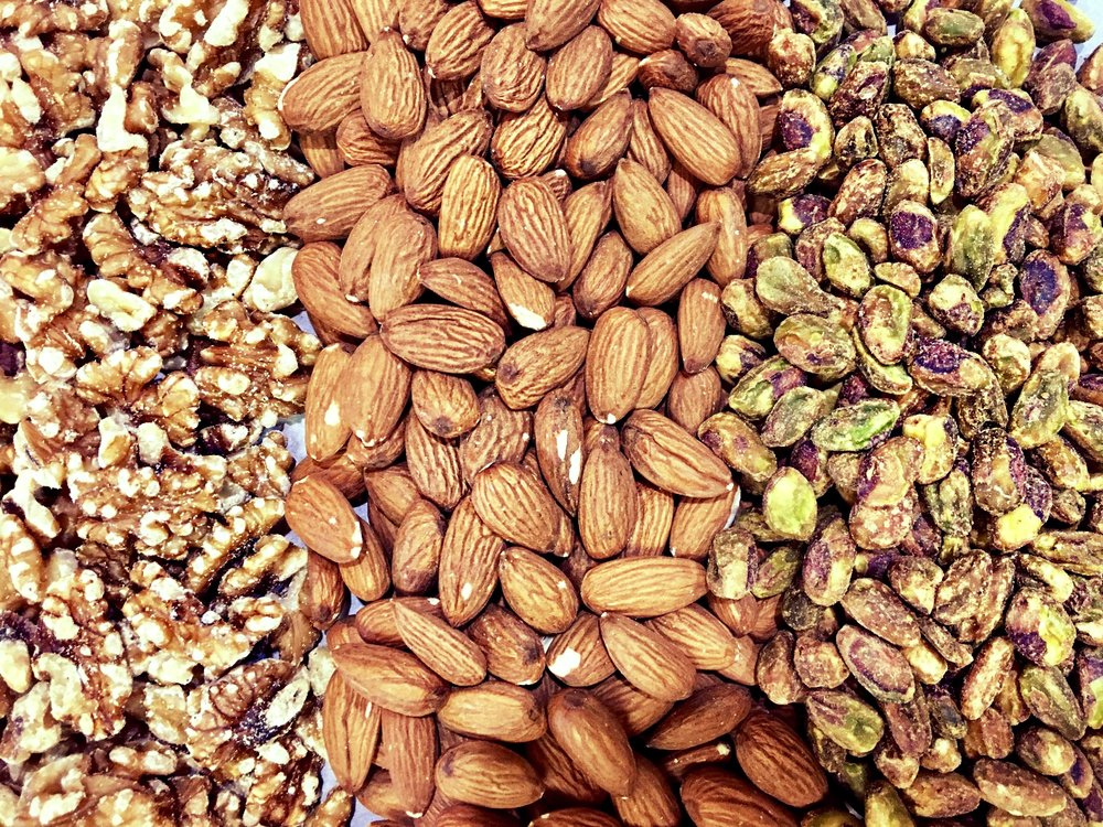 Walnuts, Almonds, & Pistachio