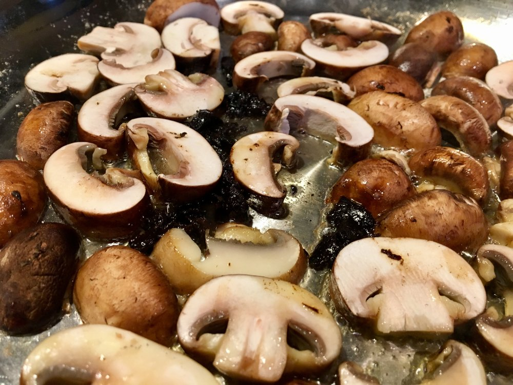 Browning crimini mushrooms before adding to any dish really brings out their flavor.
