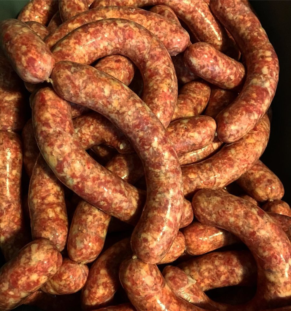 Locally made Smoked Andouille Sausage from    Native Meat Company