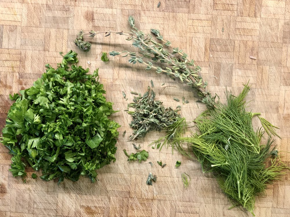 A great way to use those herbs in your summer garden!