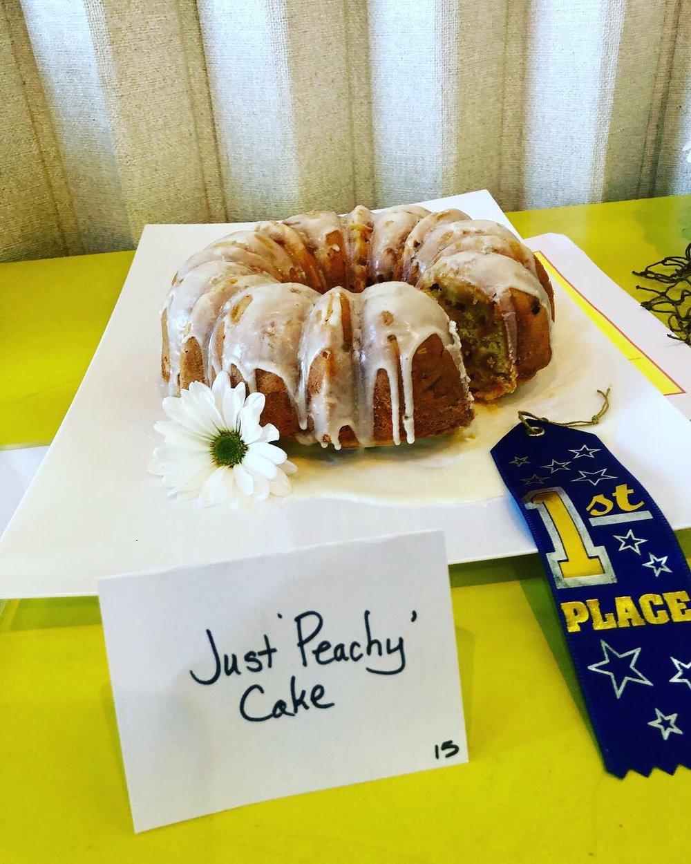"Monty Milburn's    ""Just Peachy"" Bundt Cake"