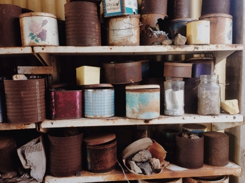 Jars, tins, boxes, medical vials you name it and it was used to store my Grandpas mineral collection.