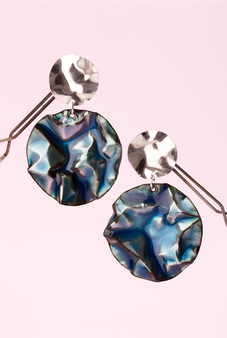 1-blue-oil-slick-ada-hodgson-silver-gold-contemporary-australian-jewellery-designer-jeweller-design-handmade-mebourne-custom-engagement-wedding-enamel-sterling-jewelry-statement-ring-earrings-