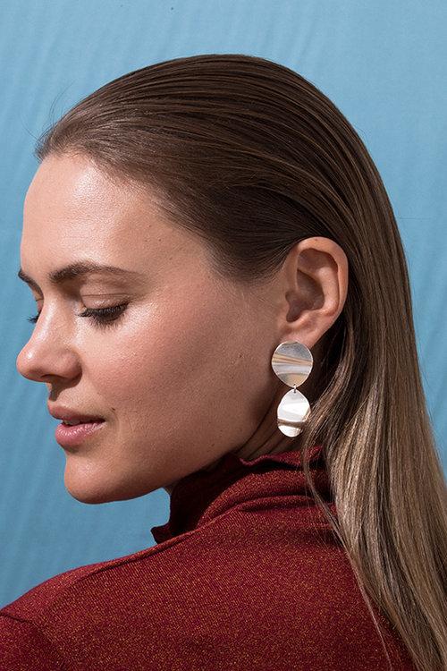 56cb2adaf Mini Fold Earrings, Sterling Silver