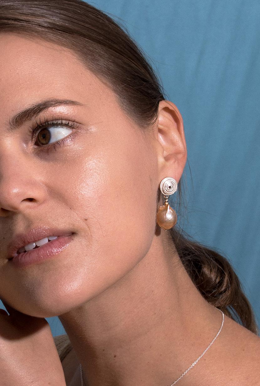 Treasure-Earrings-Sterling-Silver-Model-PDP