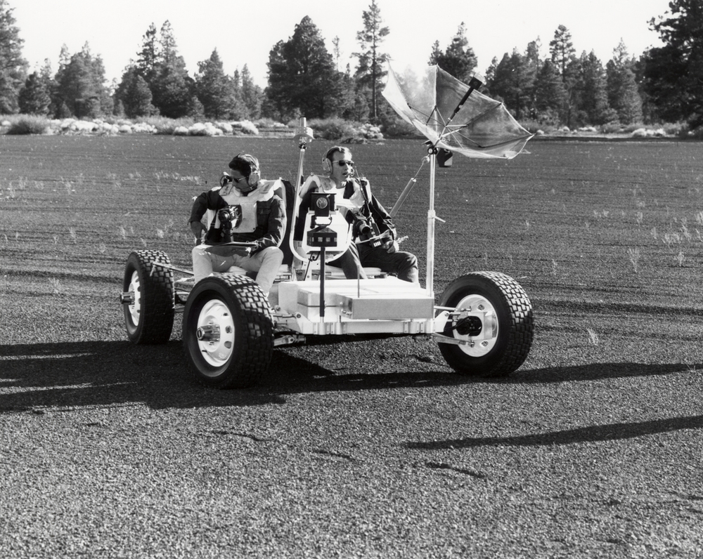 Apollo Astronauts Training at Cinder Lake Near Flagstaff, Arizona