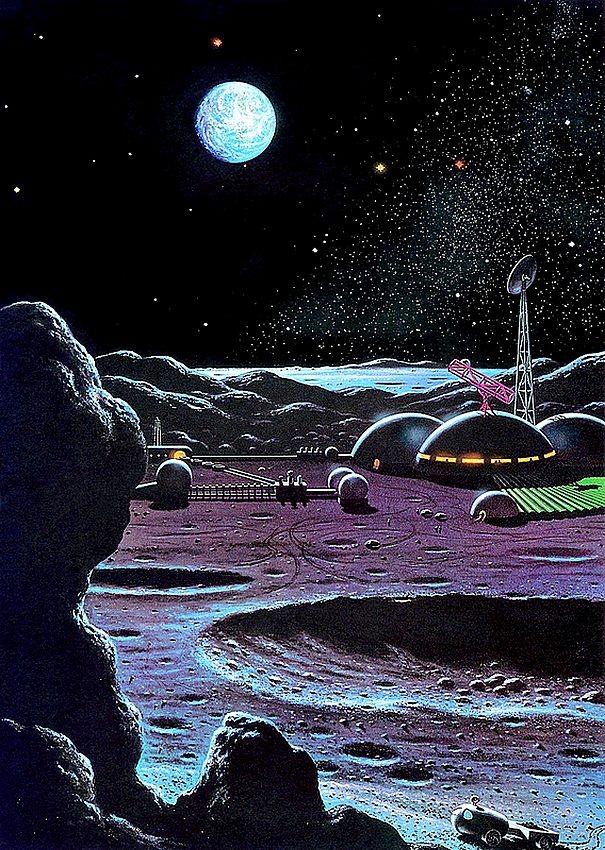 Lunar Moon Base David A Hardy