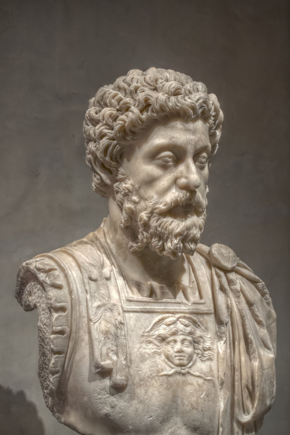 Bust of Marcus Aurelius  By Pierre-Selim - Self-photographed, CC BY-SA 3.0, https://commons.wikimedia.org/w/index.php?curid=18101954