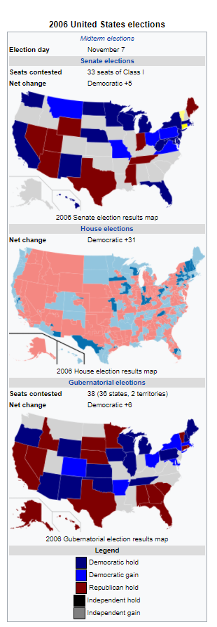 Democratic Gains in the 2006 Midterm Elections