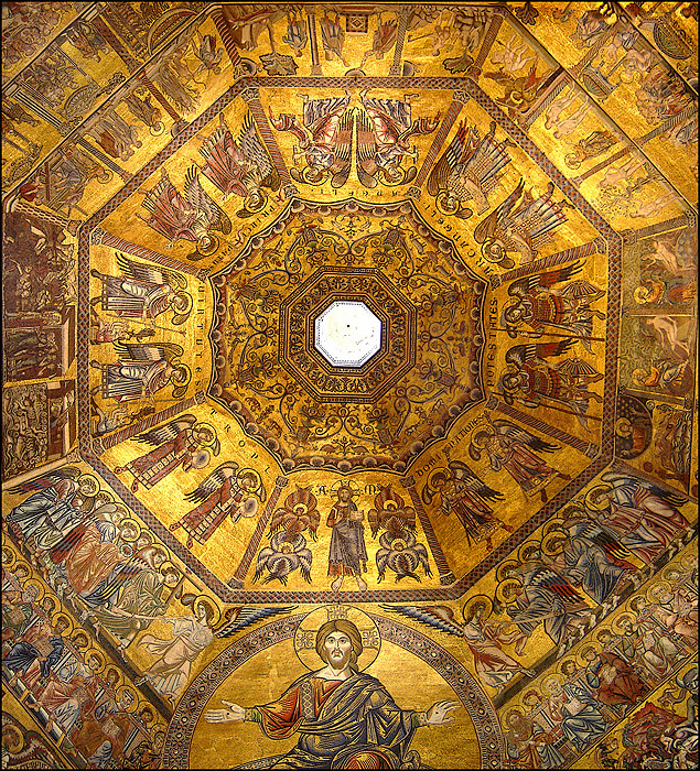 The dome of the Florence Baptistry, showing the hierarchy of angels  By Ricardo André Frantz (User:Tetraktys) - taken by Ricardo André Frantz, CC BY-SA 3.0, https://commons.wikimedia.org/w/index.php?curid=2267968