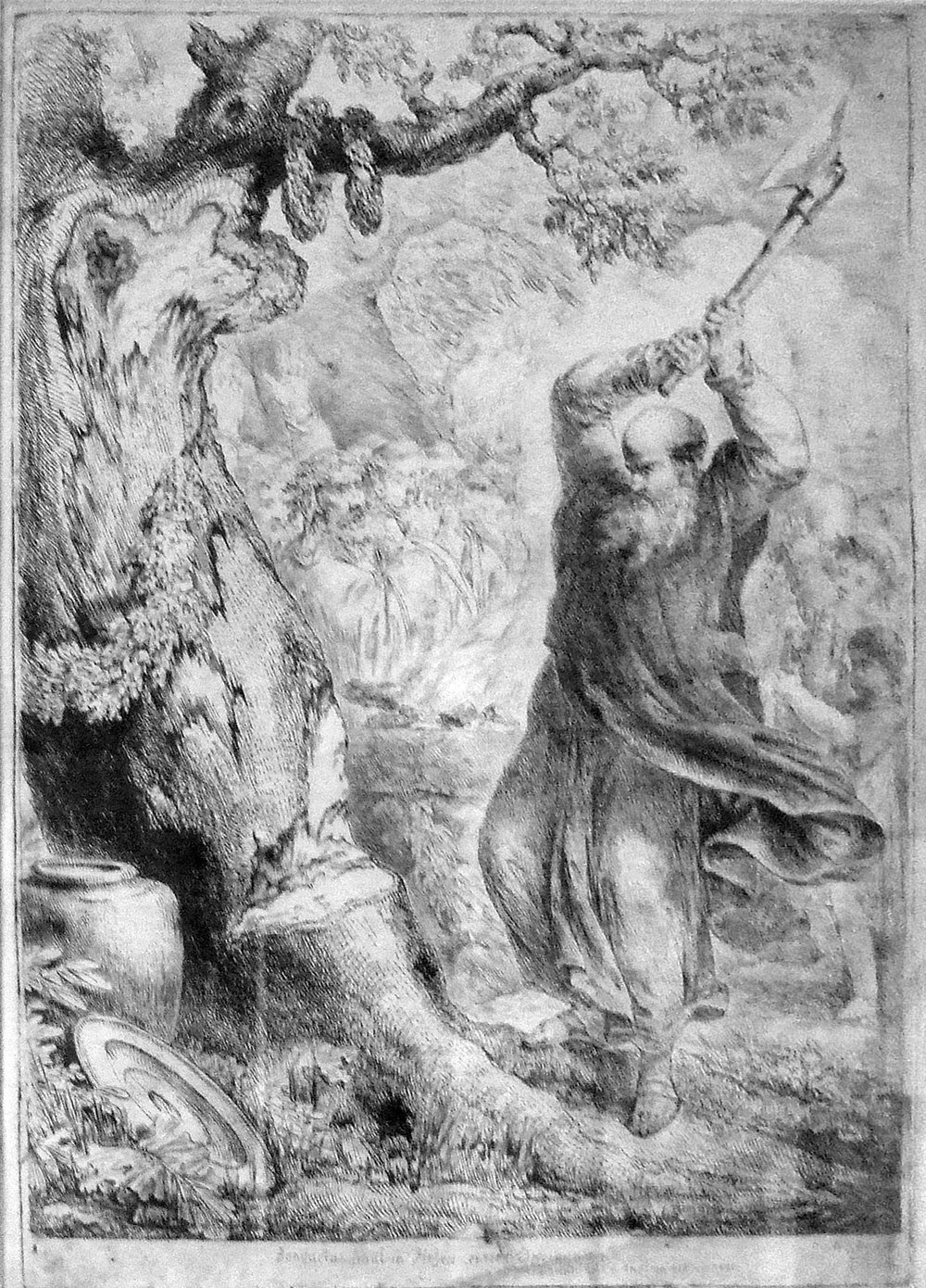 Saint Boniface felling Donar's Oak  By Bernhard Rode - Self-photographed, Public Domain, https://commons.wikimedia.org/w/index.php?curid=5780989