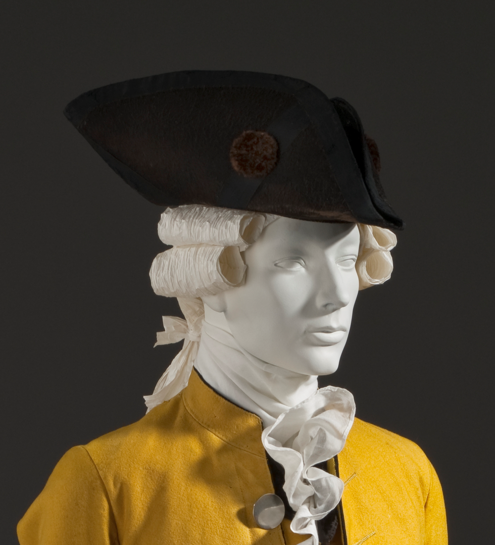 Tricorne hat  By Unknown - LACMA Image Library. Photograph LACMA.Derivative work: PKM (talk), Public Domain, https://commons.wikimedia.org/w/index.php?curid=14854853