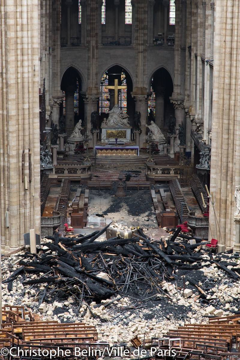 The High Altar survived the fire just fine