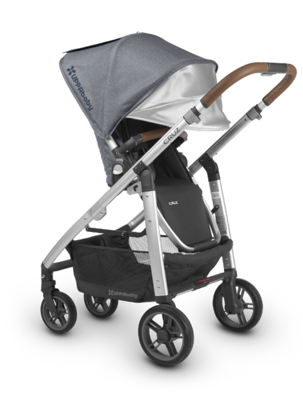 Cruz 'Henry' with Black Leather Bumper bar and Handle Bar accessories for existing strollers