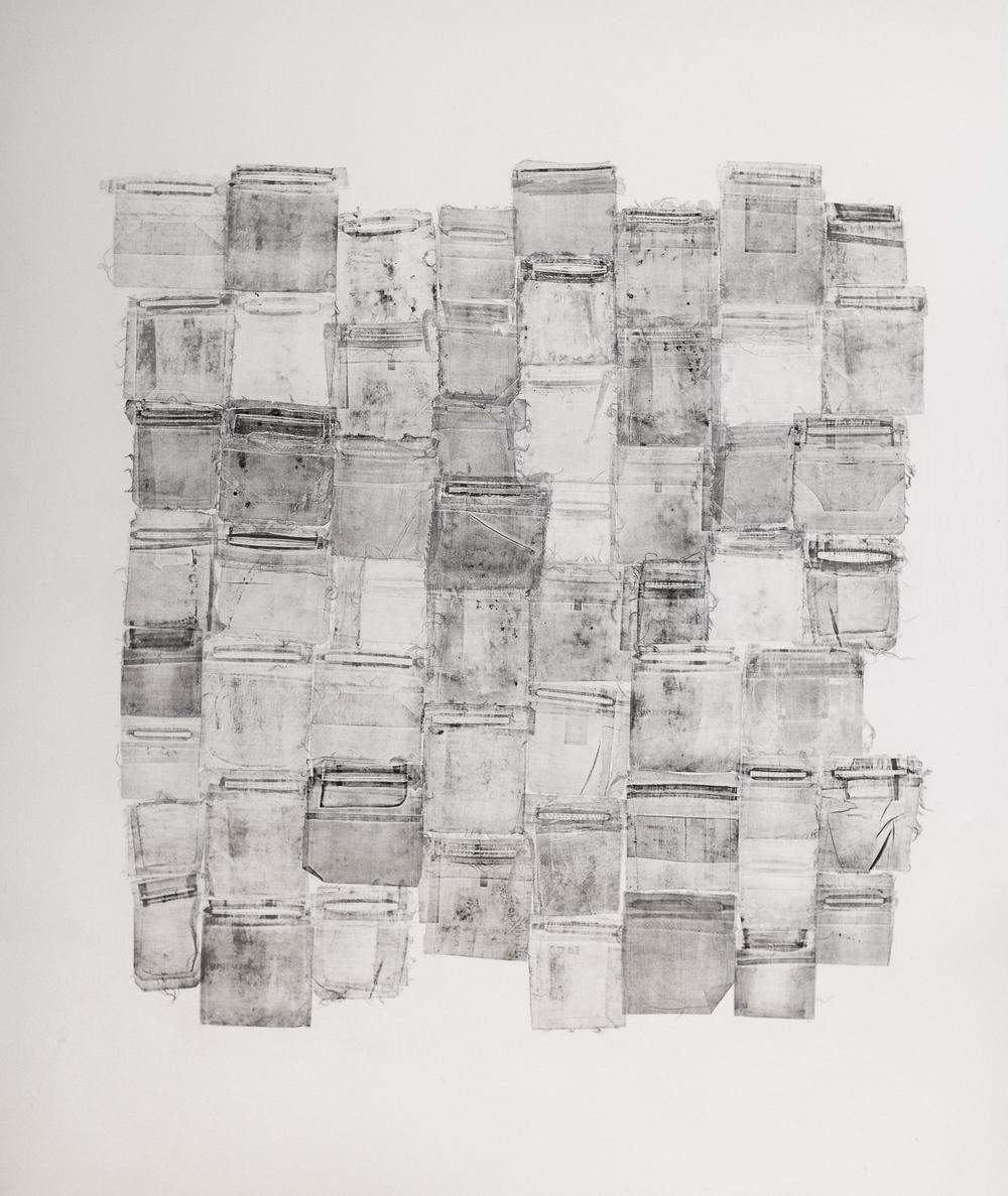 """Penumbra (ii)   ink on canvas. 72 x 84"""""""