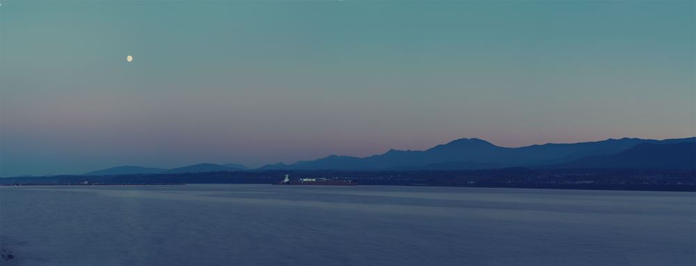 Moonrise Over Port Angeles