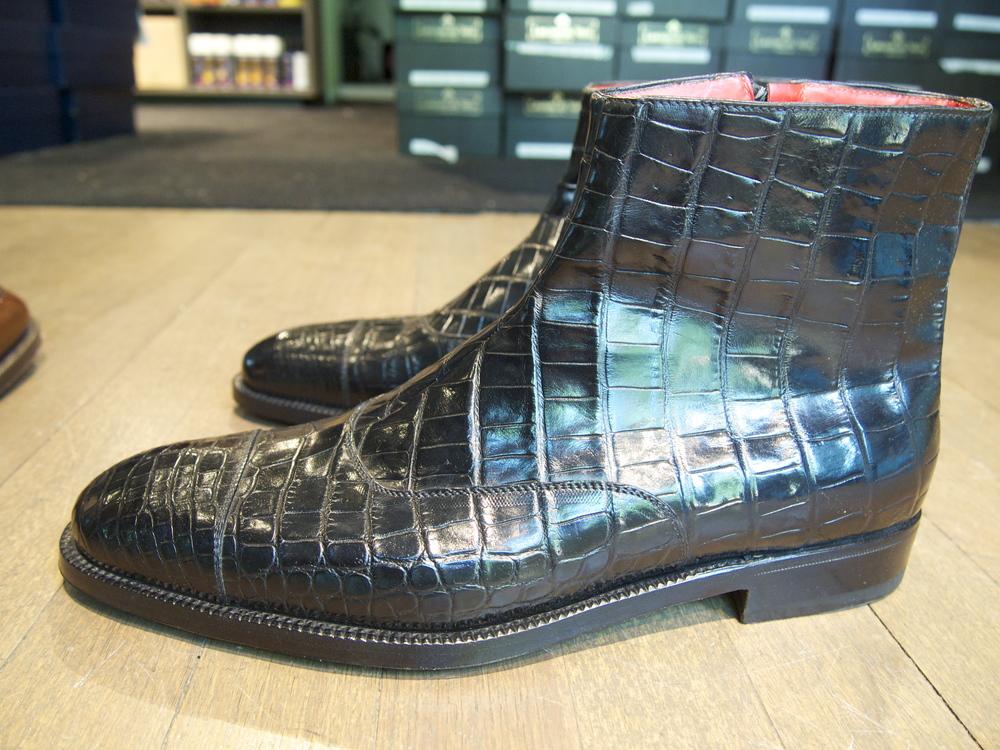 Mississippi Alligator Zip Boot by Enzo Bonafe