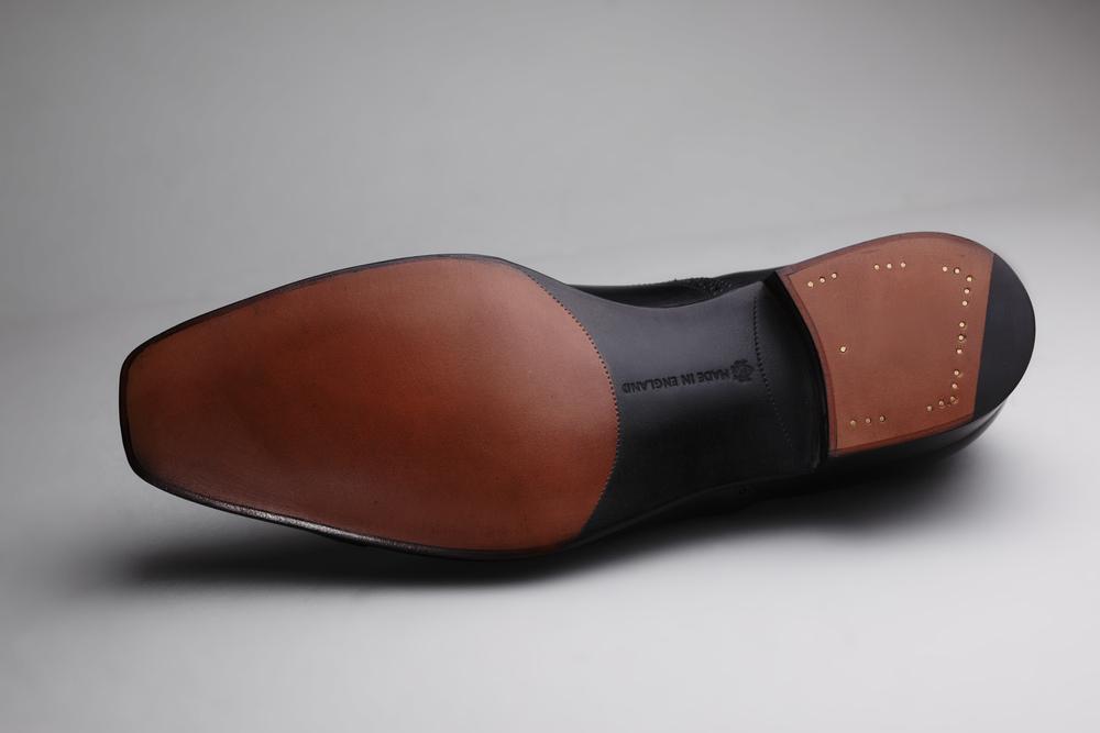 Single leather sole
