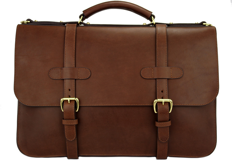 Frank Clegg - Chocolate English Briefcase