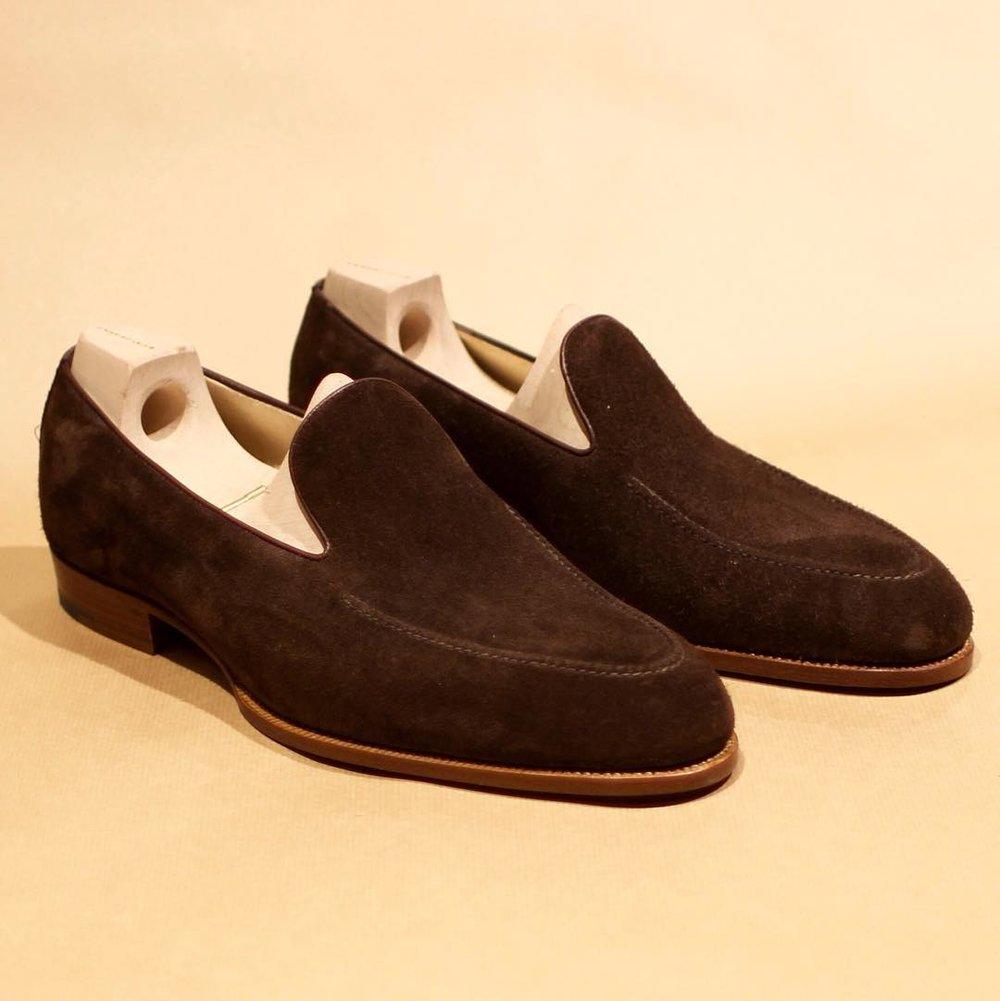 Brown Suede Loafer Apron Stitch 355.jpg