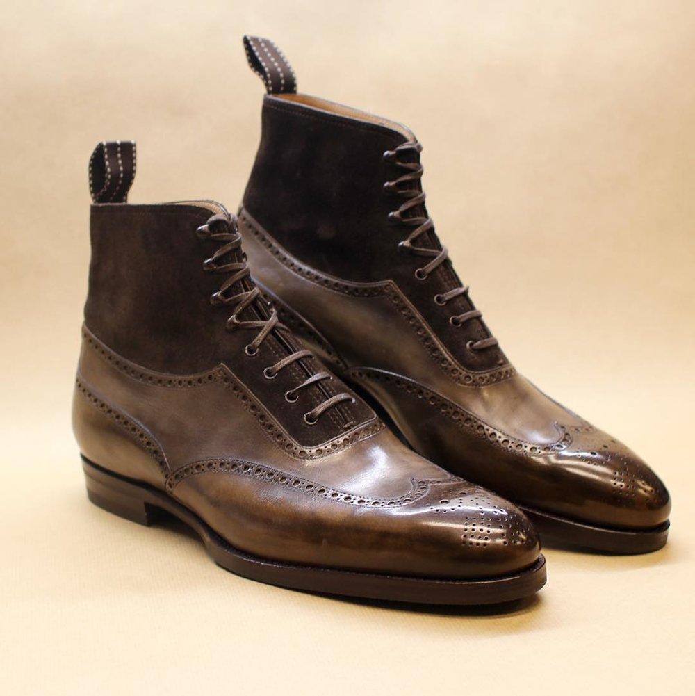 Wing tip dark brown boot brogue suede.jpg