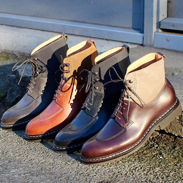 Ginkgo in full complement. Whatever you have planned this weekend, we sincerely hope you enjoy it for all it's worth! @heschungofficial #skomakerdagestad #heschung #ginkgo #nst #boots #military