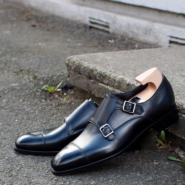 Mayfair by Gaziano & Girling for a good customer.  One of the most pristine Double Monks we've had in store.  @gazianogirling #skomakerdagestad #dagestad #gazianogirling #doublemonks #oslo #norway #mtoshoes