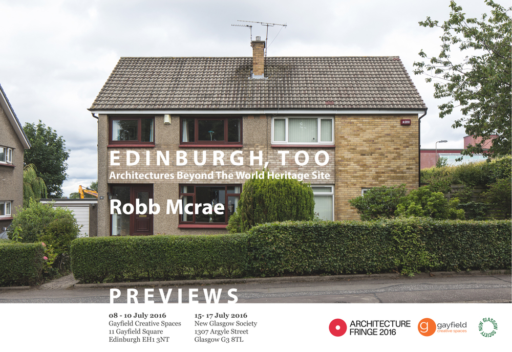 Previews of Edinburgh, Too as part of the inaugural Architecture Fringe