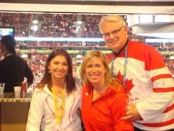 Michelle, Silken Lauman and Gordon Campbell