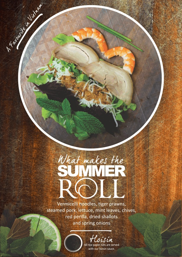 Vietnamese rice paper roll summer rolls fresh rice paper