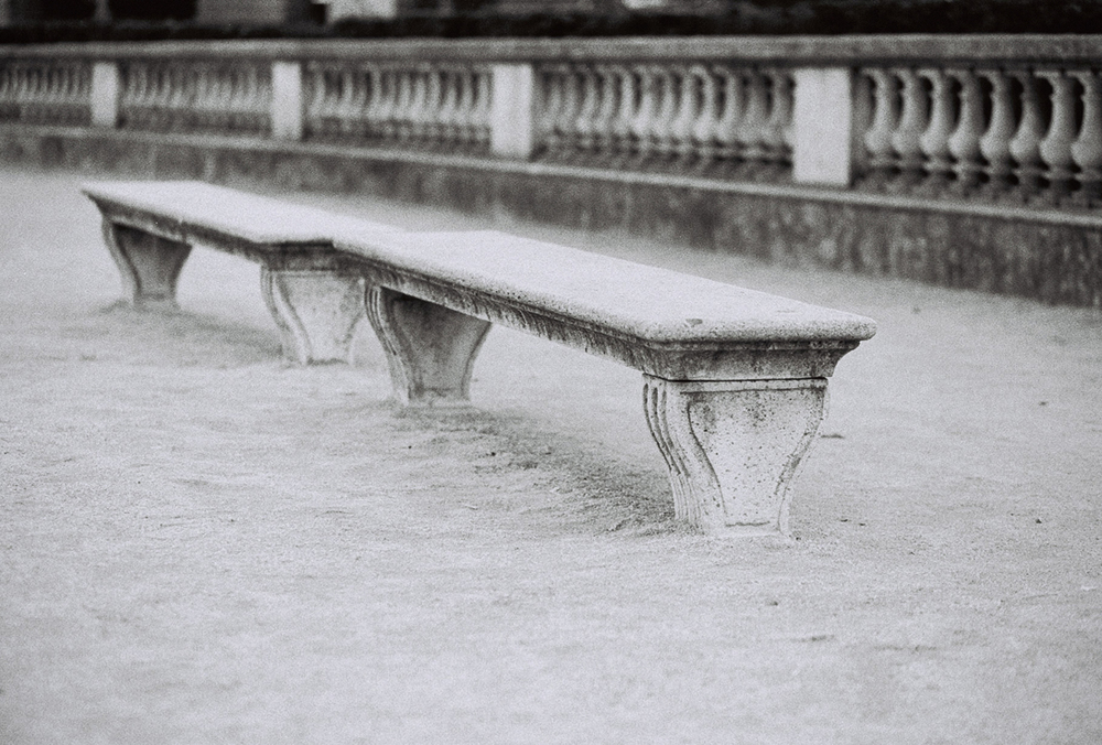 Black and White Bench in Paris