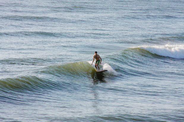Surfing Jacksonville Pier