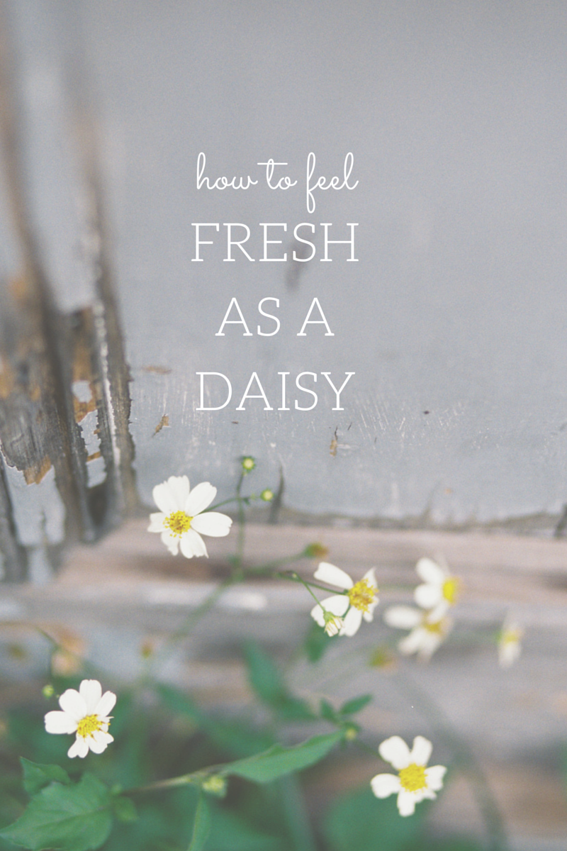 How to Feel Fresh As A Daisy