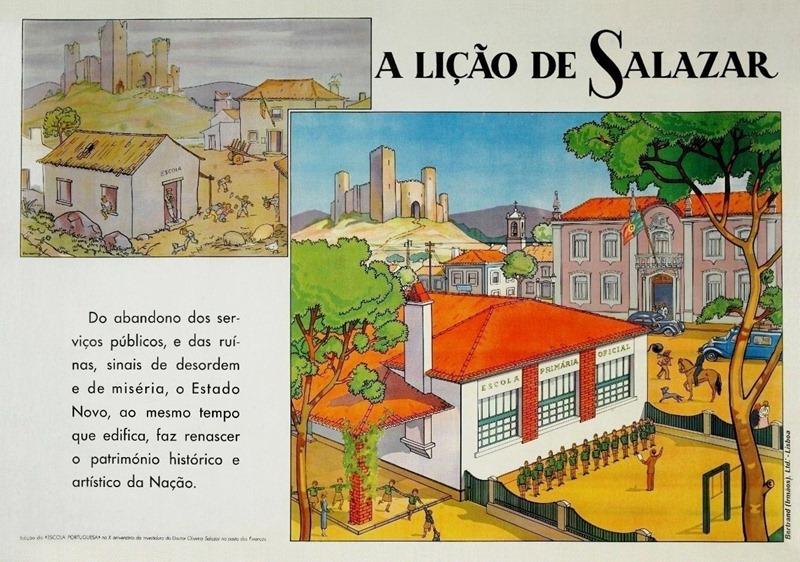 """Escola Portuguesa""  (""Portuguese School"")  Poster:Martins Barata, 1938"