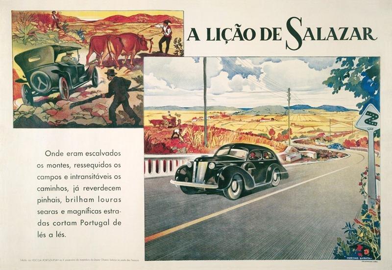 """""""A Lição de Salazar""""  (""""Salazar's Lesson"""")  Poster: Martins Barata, 1938"""