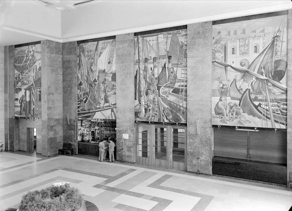 Gare Marítima de Alcântara, Lisbon Artist: José de Almada Negreiros  Photo: Mário Novais, ca. 1943-1945, Lisbon  [CFT003_033119]