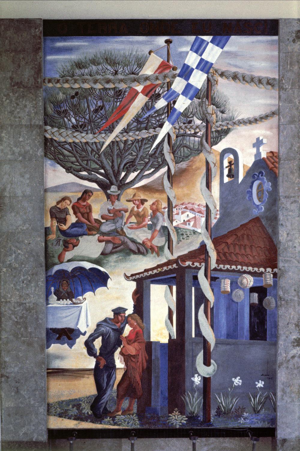 """""""Ó terra onde eu nasci"""" (""""O land where I was born"""") Artist: José de Almada Negreiros  Photo: Mário Novais, ca. 1943-1945, Lisbon  [CFT003_098025]"""