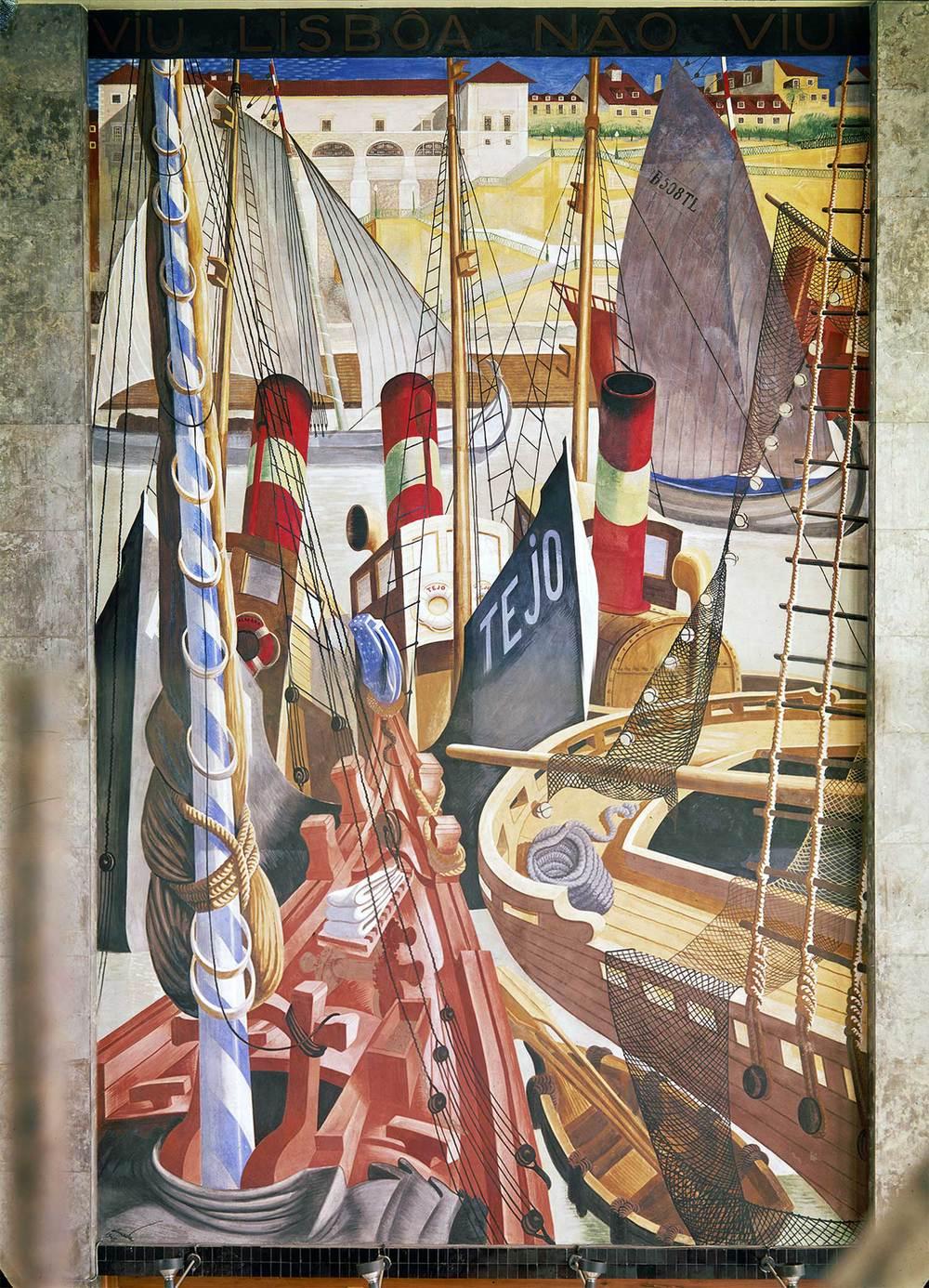 """""""Quem não viu Lisboa não viu coisa boa"""" (""""Who hasn't seen Lisbon has seen nothing good"""") Artist: José de Almada Negreiros  Photo: Mário Novais, ca. 1943-1945, Lisbon  [CFT003 082286]"""