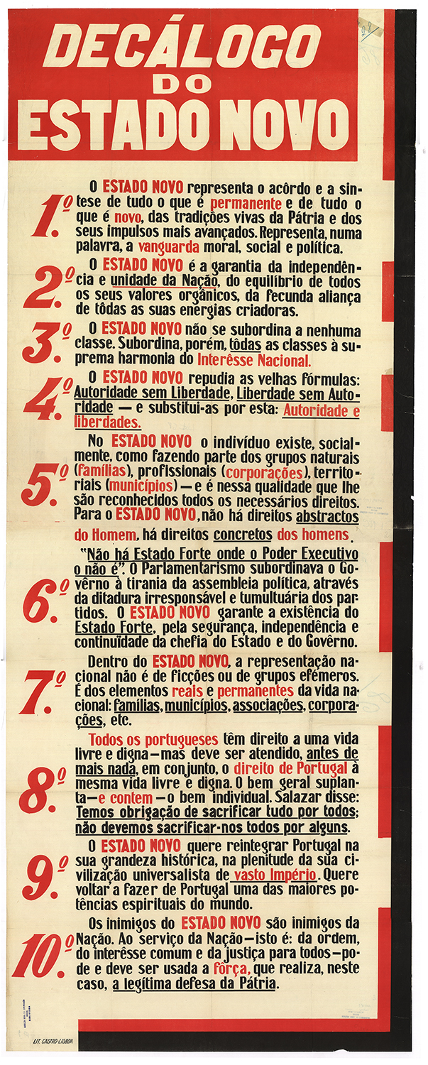 Decálogo do Estado Novo, 1934